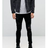 skinny extreme rips jeans in washed black - black, Liquor n poker