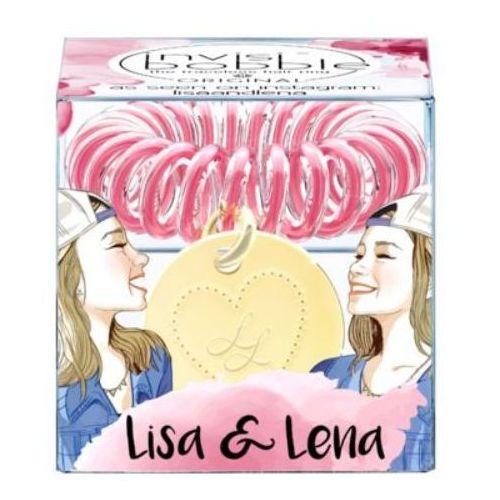 INVISIBOBBLE Lisa & Lena - różowa gumka do włosów z zawieszką serca (4260285375927)