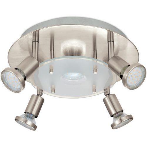 Plafon Eglo Pawedo 93083 lampa oprawa sufitowa 5x3W GU10-LED nikiel mat / biały