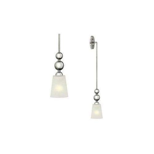 Hinkley Kinkiet lampa ścienna hk/zelda/p/a pn elstead szklana oprawa w stylu retro kule nikiel białe (5024005359203)