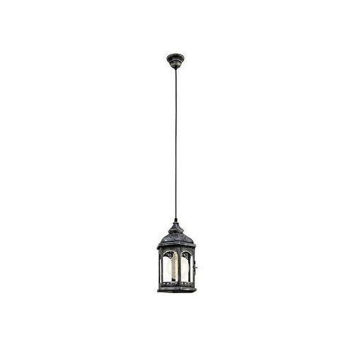 Lampa wisząca zwis oprawa żyrandol vintage Eglo Retford 1 1x60W E27 antyczny srebrny 49225, kolor Srebrny