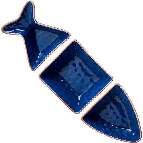 Misa do serwowania w kształcie ryby Seafood Sagaform trzyczęściowa (SF-5017779)