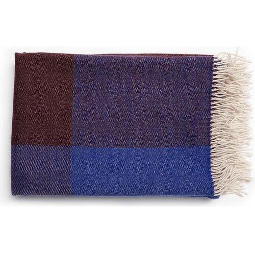 Pled blend throw niebiesko-biały, kolor wielokolorowy