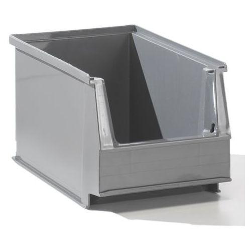 Lockweiler plastic werke Przejrzysty pojemnik magazynowy z recyrkulowanego pe, poj. 2,6 l, szary, opak. 2