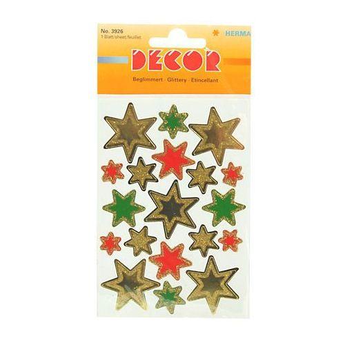 Herma Naklejki  decor 3926 gwiazdy kol brokat x1