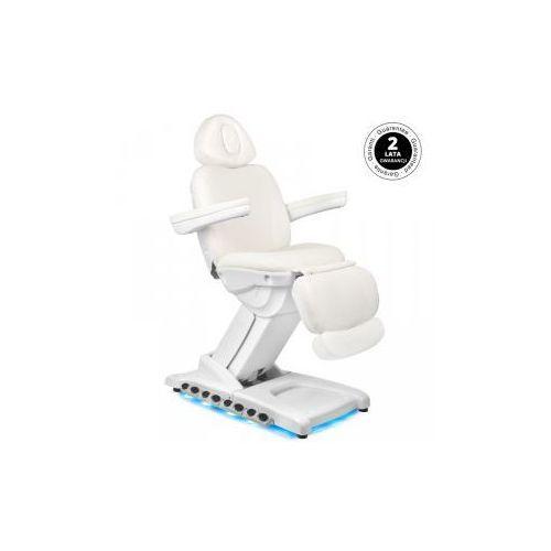 Fotel kosmetyczny elektr. azzurro 872 exclusive 4 siln. biały podgrzewany marki Vanity_a