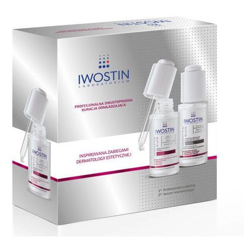perfectin re-liftin profesjonalny peeling na noc 30ml + rewitalizujące serum 30ml marki Iwostin