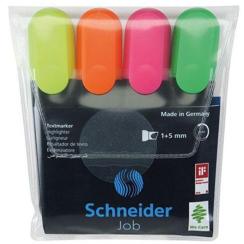 Schneider zakreślacz job 4 sztuki mix kolorów - wikr-0984407 darmowy odbiór w 21 miastach!