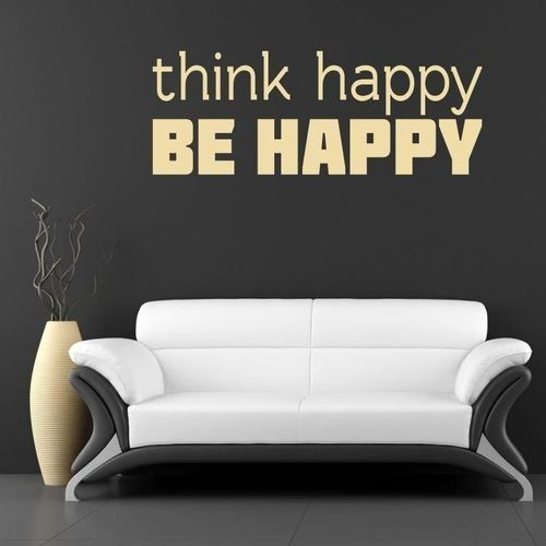 naklejka 03X 25 think happy be happy 1738