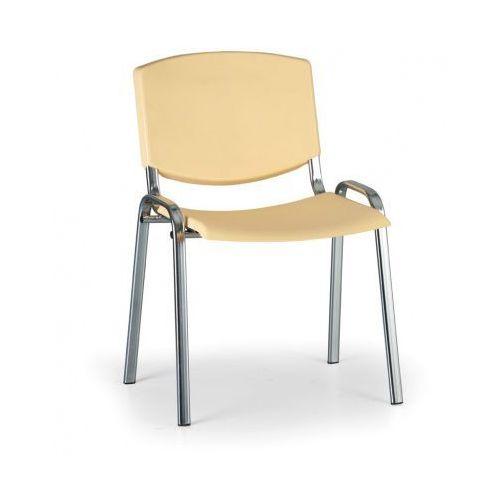 Krzesło konferencyjne Smile, żółty - kolor konstrucji chrom