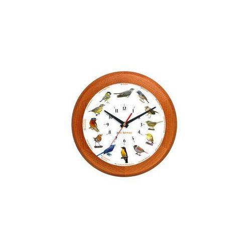 Zegar z głosami ptaków drewniany rondo #1B, ATW301PT2