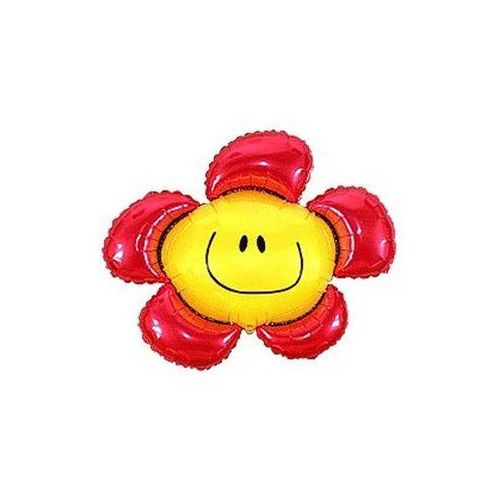Flexmetal balloons Balon foliowy kwiatek czerwony do patyka - 37 cm (5905548926636)