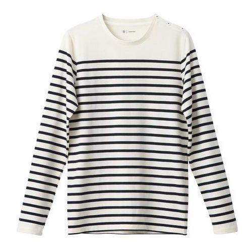 T-shirt z długimi rękawami, okrągły marynarski dekolt, 100% bawełny