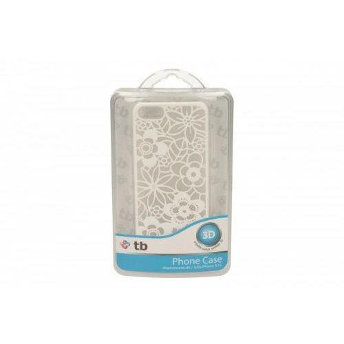 TB Etui Iphone 5/5S kwiaty biały, towar z kategorii: Futerały i pokrowce do telefonów