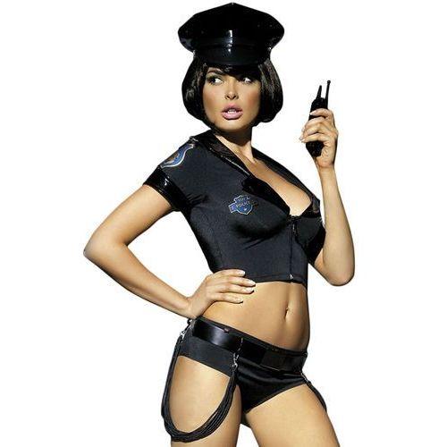 Kostium policjantki z szortami  police set costume s/m marki Obsessive