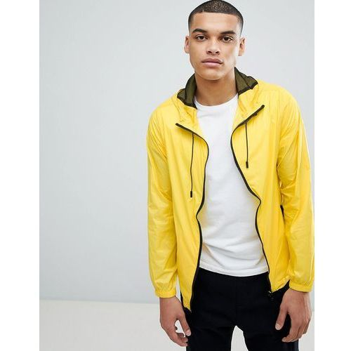 Another influence neon yellow contrast zip jacket - yellow