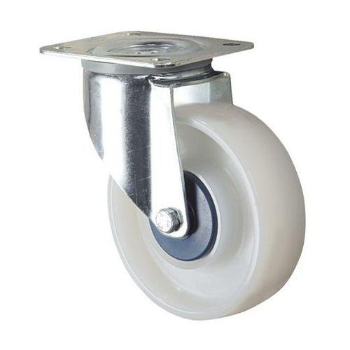 Tente Kółko z poliamidu, białe, ø x szer. kółka 100x36 mm, rolka skrętna. wyciszone na