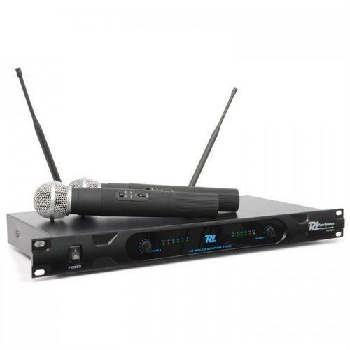 pd722h 2-kanałowy, radiowy system mikrofonowy uhf marki Power dynamics