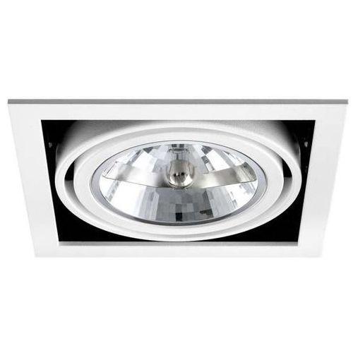 Sotto luce Wpuszczana lampa podtynkowa mae 1/r/white metalowa oprawa sufitowa do wbudowania kwadratowa biała (1000000210484)