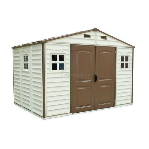 Duży plastikowy domek woodside 10,5x8 - transport gratis! marki Duramax