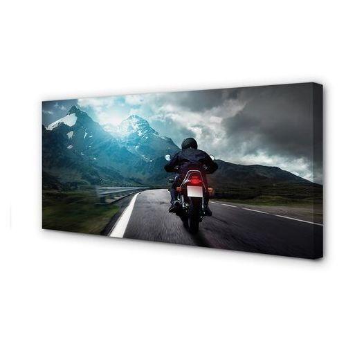 Tulup.pl Obrazy na płótnie motocykl góry droga człowiek niebo