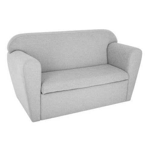 Sofa dwuosobowa ze schowkiem na zabawki - kolor szary 80 x 35 x 45 cm