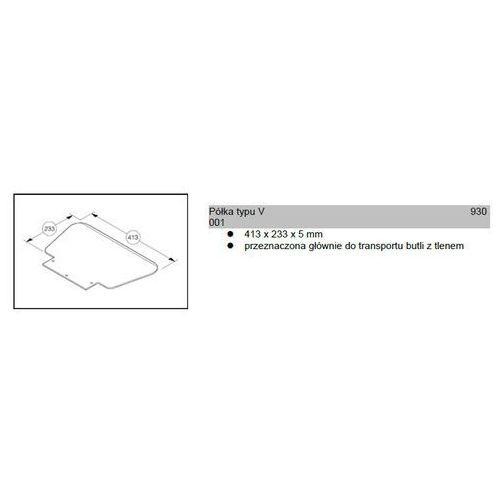 Półka typu v 413x233x5mm do wózków modulkar sano liftkar marki Wozki aluminiowe modulkar