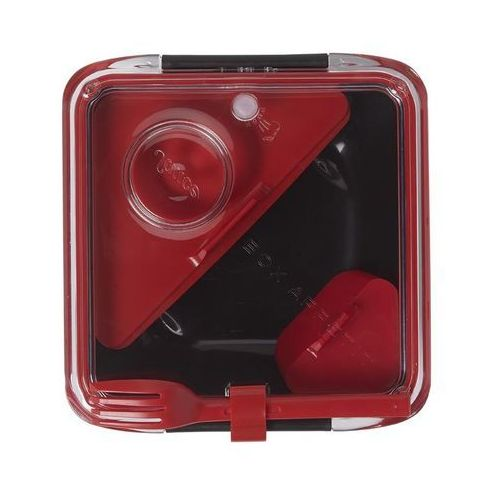 BB - Lunch box BOX APPETITE czarno/czerwony ODBIERZ RABAT 5% NA PIERWSZE ZAKUPY, BA004 (5651327)