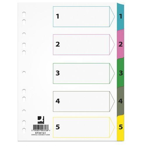 Przekładki Mylar Q-connect 1-5 kart (5705831001619)