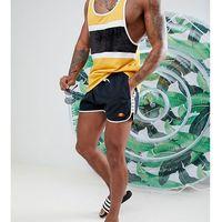 swim shorts with taping exclusive in black - black marki Ellesse