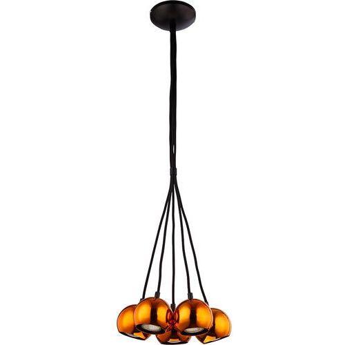 Lampy sigma Lampa wisząca orion 5 miedź zablokowane gu10 5 x 25w (5902335262908)