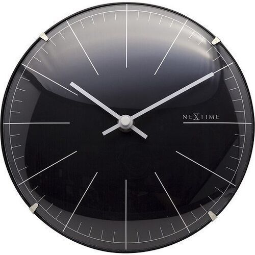 Zegar ścienny lub stołowy big stripe mini czarny marki Nextime