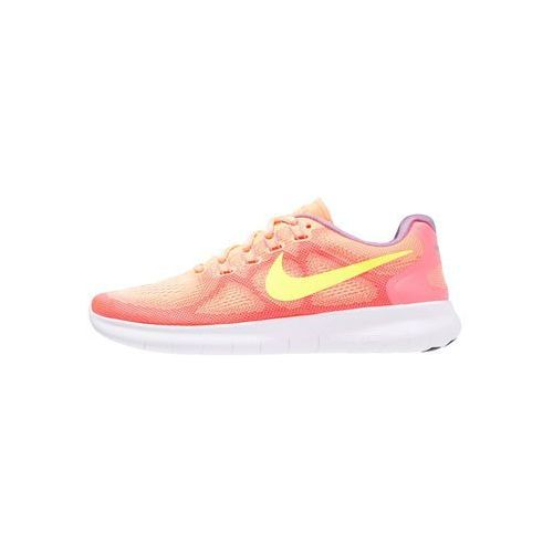 Nike Performance FREE RUN 2 Obuwie do biegania neutralne sunset glow/volt/hot punch/violet, kolor pomarańczowy