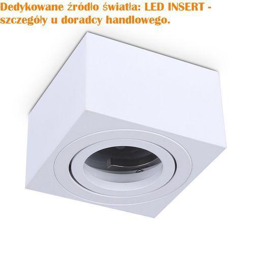 Kobi light Zestaw - lampa prostokątna biała, h050 + żarówka 5w (5902846014393)