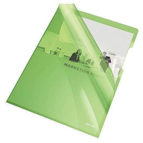 Esselte Ofertówka krystaliczna zielona a4 150mic. 25szt.