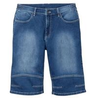 """Bermudy dżinsowe ze stretchem w wygodnym fasonie bonprix niebieski """"medium bleached, bawełna"""
