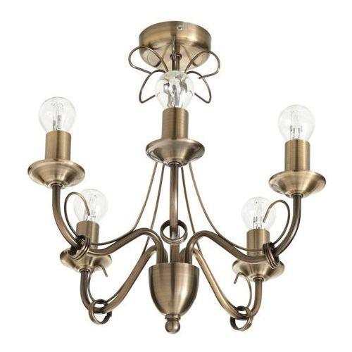 Lampa sufitowa Colours Inuus 5 x 60 W E14 złoto antyczne, 72259