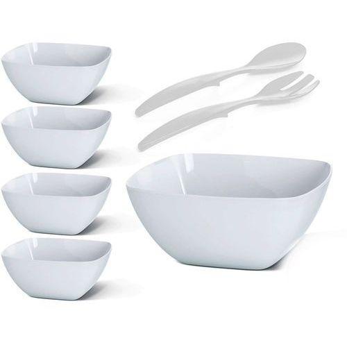 Emsa  zestaw do sałatek vienna 6 el., biały (4009049342825)