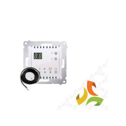 Regulator temperatury z wyświetlaczem, zewnętrzny czujnik temperatury - sonda 16a, 230v, biały dtrnsz.01/11 simon 54 premium marki Simon kontakt