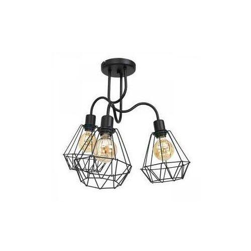 Luminex Bergen 309 plafon lampa sufitowa 3x60W E27 czarny