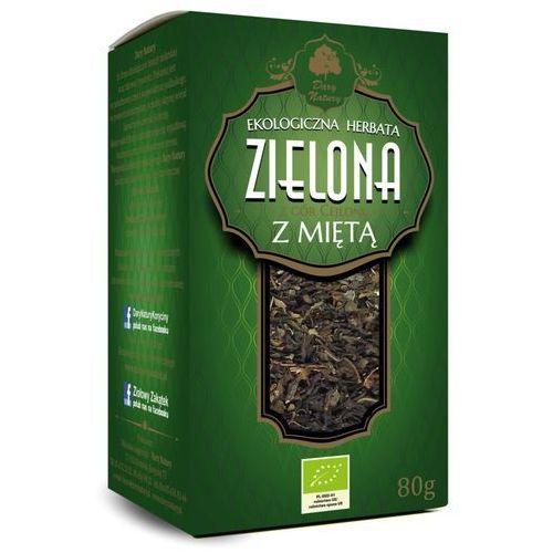 Dary natury - herbatki bio Herbata zielona z miętą liściasta bio 80 g - dary natury (5902581617019)