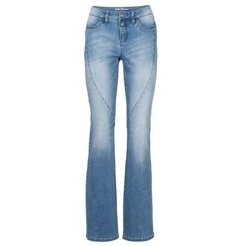 Dżinsy ze stretchem BOOTCUT bonprix średni niebieski, jeansy