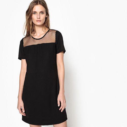 Sukienka rozkloszowana, półdługa, jednokolorowa, rozkloszowana