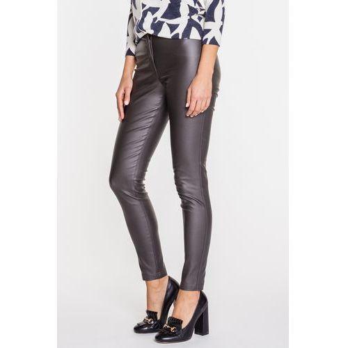 Szare, woskowane spodnie - Metafora, 1 rozmiar