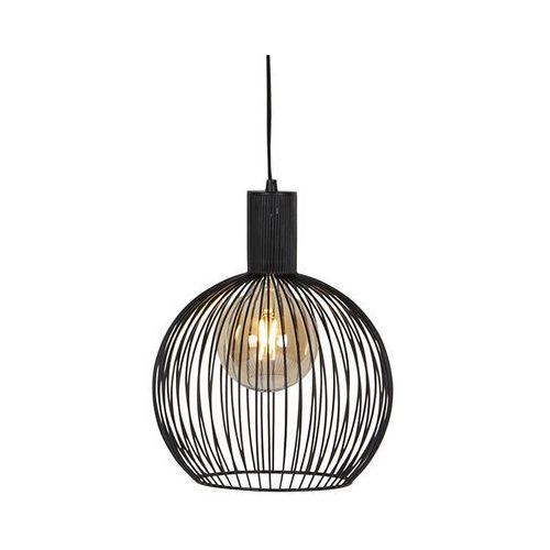Nowoczesna okrągła lampa wisząca czarna 30cm - Wire