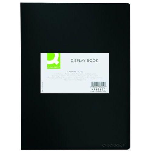 Teczka ofertowa Q-CONNECT, PP, A3, 380mikr., 20 koszulek, czarna z etykietą