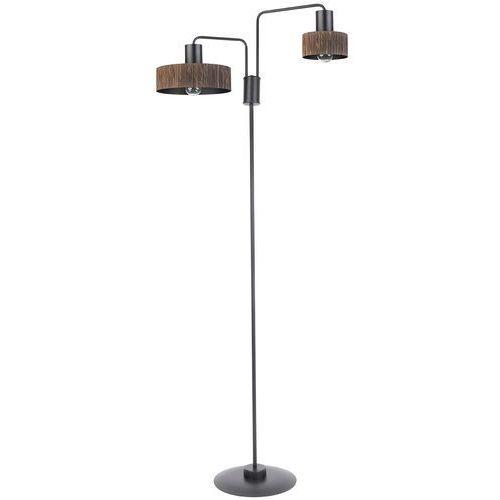 Sigma Vasco 50112 lampa stojąca podłogowa 2x60W E27 czarny / wenge (5902846813194)