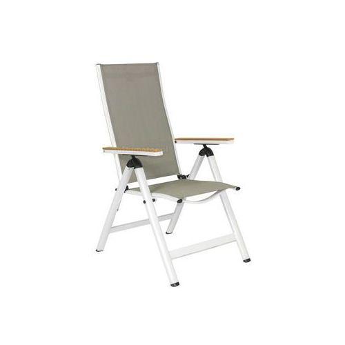 Krzesło ogrodowe składane aluminiowe verona legno - białe marki Edomator.pl