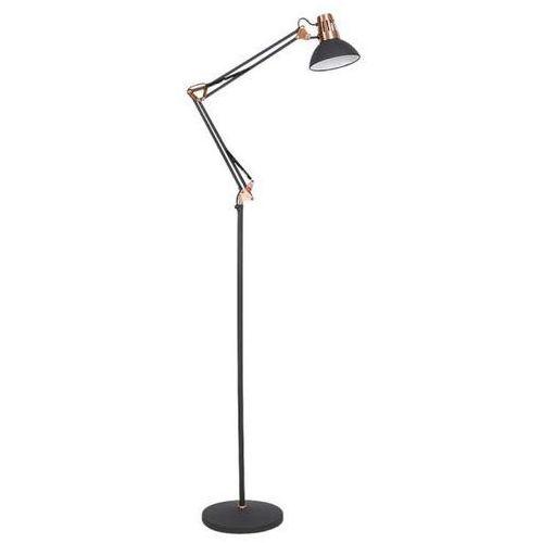 Stojąca LAMPA podłogowa GARETH 4523 Rabalux regulowana OPRAWA na wysięgniku do salonu loft miedź czarna