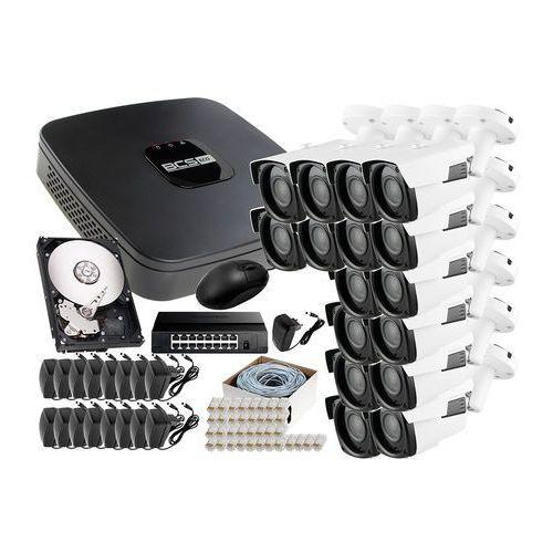 Zestaw do monitoringu: rejestrator ip bcs-nvr16015me + 16x kamera fullhd lv-ip2601ip + dysk 1tb + akcesoria marki Ivelset